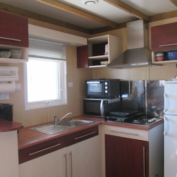 Chalet type mobil home bd de mer 3 chambres