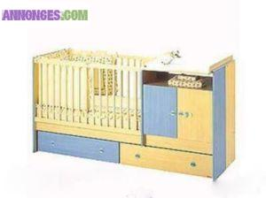Chambre kangourou sauthon bleu jaune image sur le design for Chambre kangourou