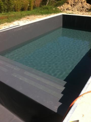 Liner pvc arme etancheit piscine - Piscine liner gris fonce ...