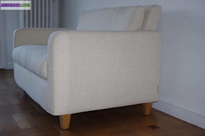 Canapé Compact Chester Habitat Tissu