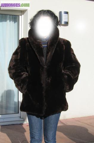 Manteau femme mouton dore
