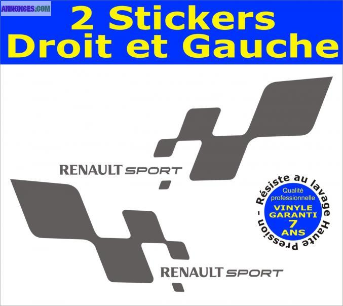 stickers renault sport bas de caisse. Black Bedroom Furniture Sets. Home Design Ideas