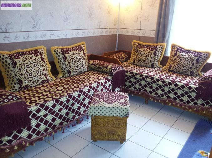 salon marocain banquette sidari. Black Bedroom Furniture Sets. Home Design Ideas