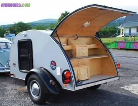mini caravane teardrop alpina retro vintage 25 du neuf. Black Bedroom Furniture Sets. Home Design Ideas