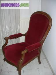 vends beau fauteuil voltaire gtr s ancien. Black Bedroom Furniture Sets. Home Design Ideas