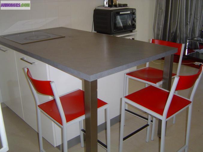 Ilot de cuisine for Ilot cuisine hauteur table