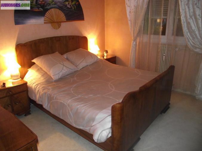 chambre coucher bois massif - Chambre En Bois Massif