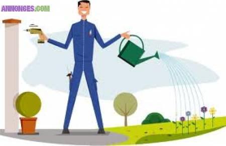 Travail multi services entretien espace vert for Travail espace vert