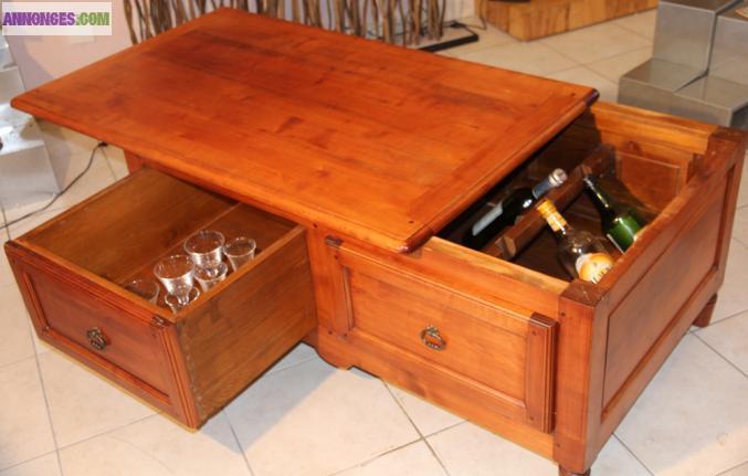 table basse bar pour salon. Black Bedroom Furniture Sets. Home Design Ideas