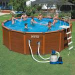 Intex - piscine hors-sol sequoia + liner - Miniature